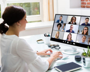 Remote worker video call