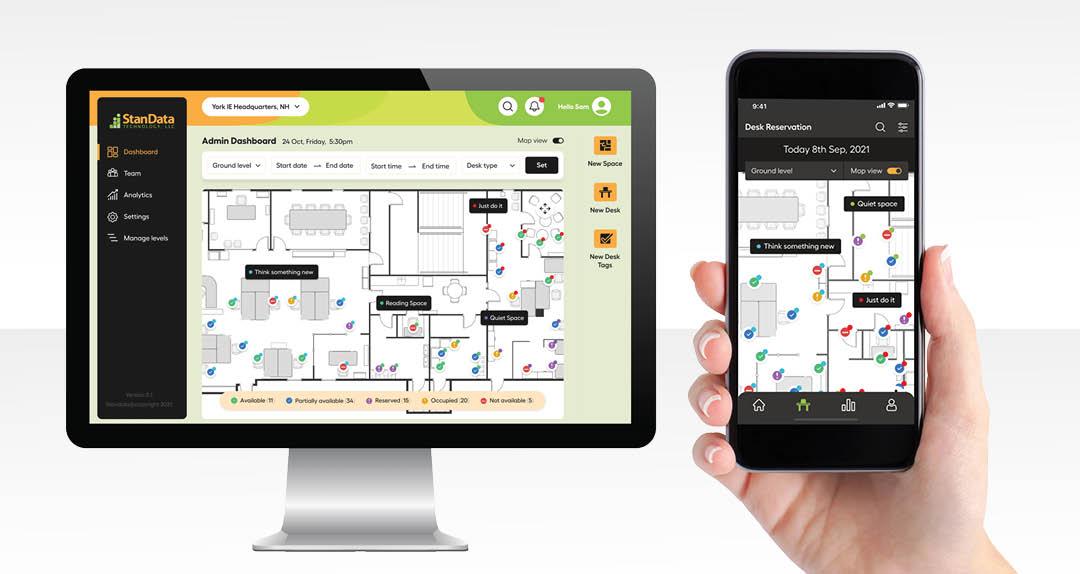 StanData Announces Desk Reservation System for Hybrid Workforces